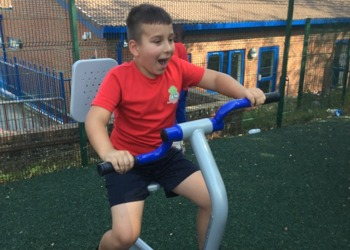 Let's get physical! New outdoor PE equipment at Orchard
